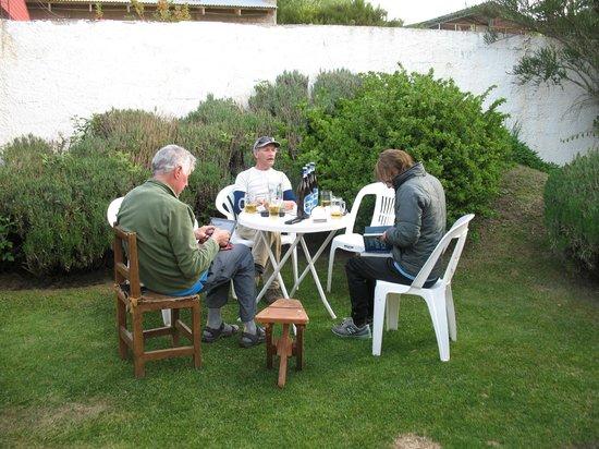Las Cabañitas: in the beer garden