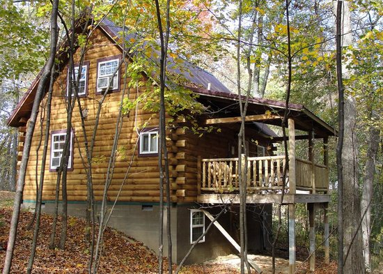 Ash Ridge Cabins: Lovers Loft Cabin from the woods.