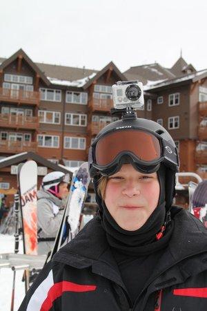 Grand Lodge on Peak 7: Waiting for ski lift