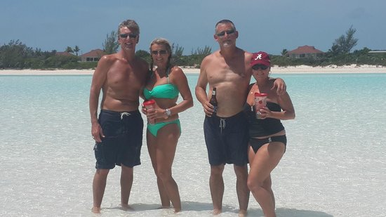 Exuma Water Tours: guest enjoying a day out with Four C's Adventures