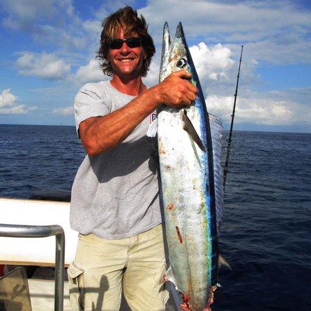 Lower Keys Adventure Charters: Mike holds up 50#+ Wahoo