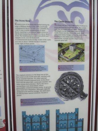 Canterbury Norman Castle: Canterbury Castle April 2012 Description Plaque