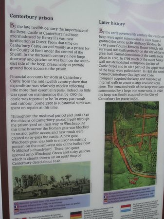 Canterbury Norman Castle: Canterbury Castle April 2012 More Information
