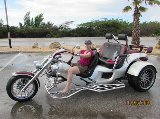 Trikes Aruba: Good view of the 2 seats in the back of this bike