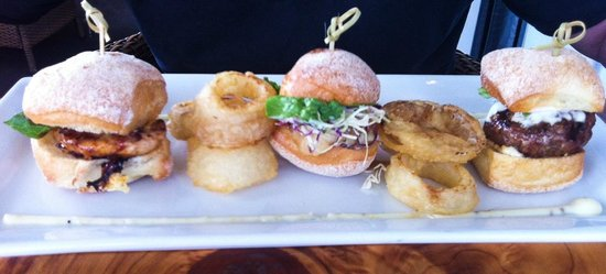 The Pear Tree: Sliders and onion rings - yum!