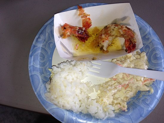 Hawaii Food Tours: What is left of my garlic shrimp