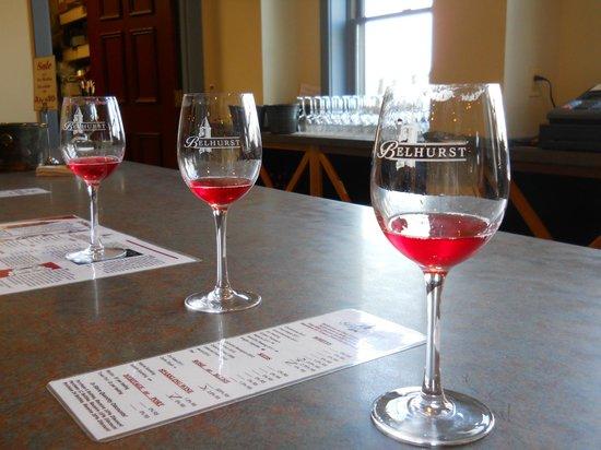 Wine tasting room Belhurst Castle