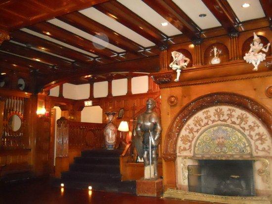 Fireplace in dining area Belhurst Castle
