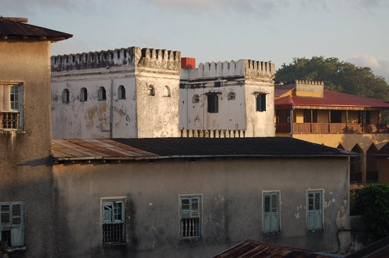 View from Kiponda B&B rooftop restaurant