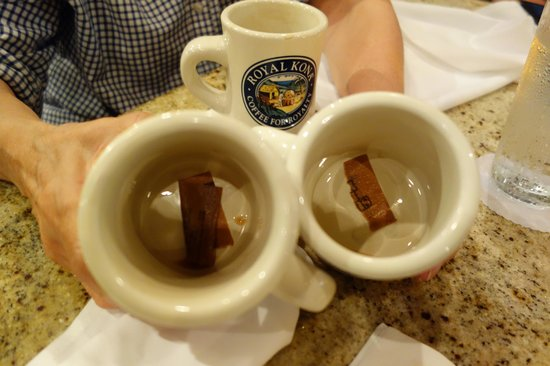 Sam Choy's Kai Lanai: In the bottom of the coffee cups. Gross.