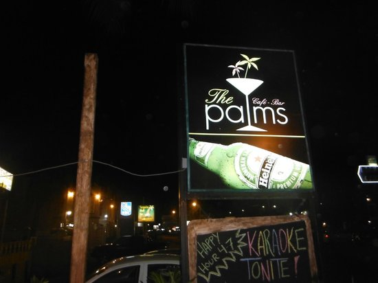 The Palms Restaurant : outside view