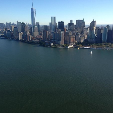 Lotte New York Palace: VIEW FROM HELICOPTER RETURNING BACK