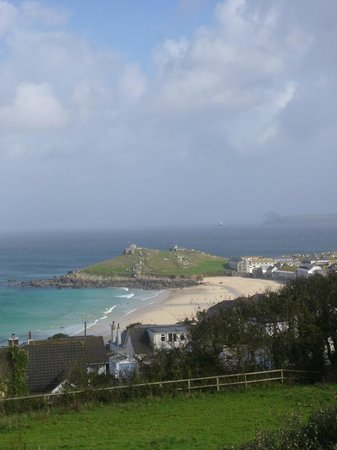 Ayr Holiday Park: View of st ives from the pitch