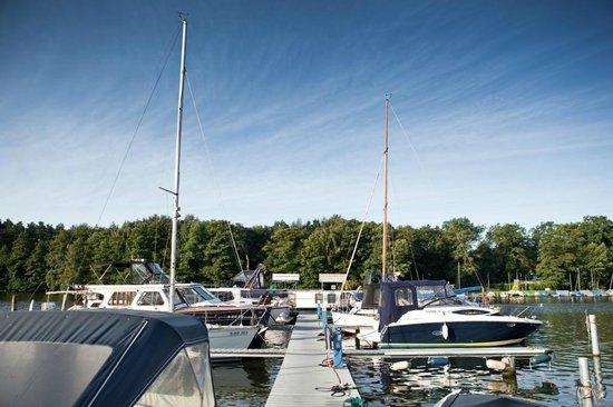 Hotel Spree-idyll: Aussicht auf den Hafen