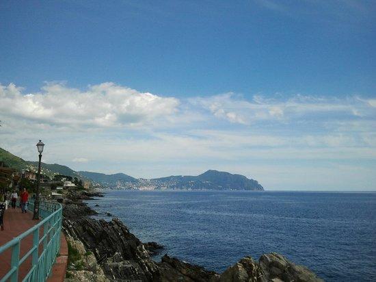 Passeggiata Anita Garibaldi a Nervi: Тропа идет вдоль моря