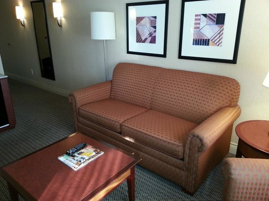Hilton Vancouver Airport: Couch