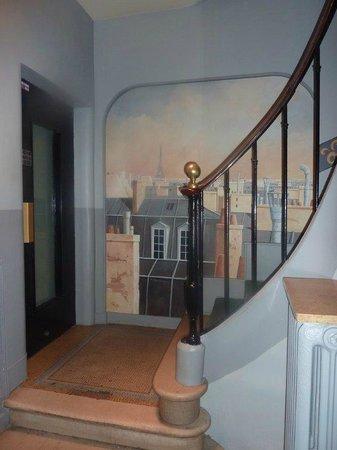 Escalier Hotel Prince Albert Louvre paris