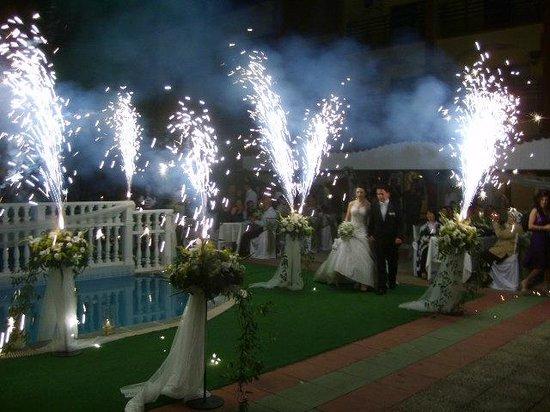 Temple Beach Hotel: wedding in our garden