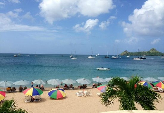 Royal St Lucia Resort and Spa : View from our balcony