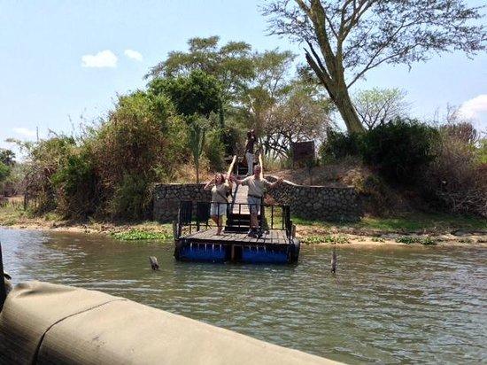Central African Wilderness Safaris Mvuu Lodge: Waving goodbye