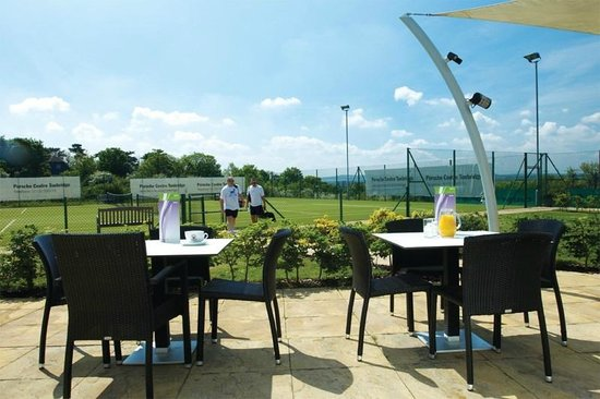 The David Lloyd Club: The outside patio seating, next to the club room