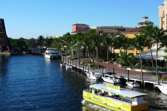 Riverwalk Fort Lauderdale: Water Taxi provides a unique way to travel downtown