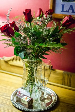 West Hill House B&B: Roses for Lanette on our 10th anniversary.