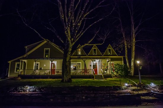 West Hill House B&B at night.