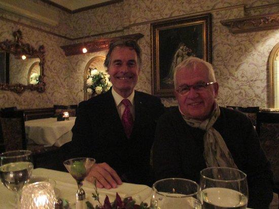 Restaurant L'autre Saison: with TV producer Jacques Payette at l'Autre Saison