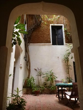 Baitul Noor House - Lamu Backpackers: Enter the courtyard!