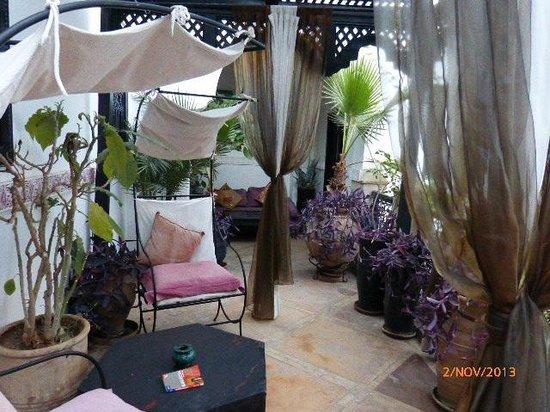Dar el Souk: A Terrace outside the rooms