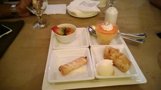 Trader Vic's: Dessert sampler