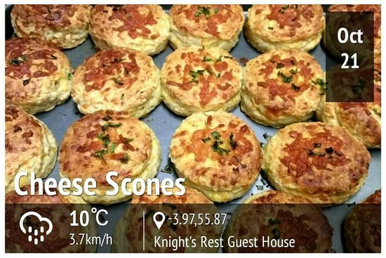 Knight's Rest Guest House: Cheese Scones With Chives