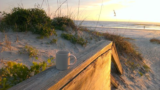 The Beach Club at St Augustine: Morning coffee