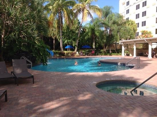 Holiday Inn Ft. Lauderdale Airport : Afternoon/evening by the pool