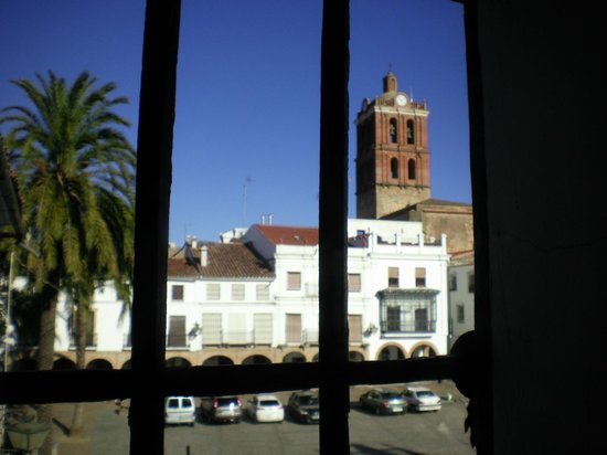 Hotel Plaza Grande: A view of the cathedral from our room.  The bells ring until midnight.