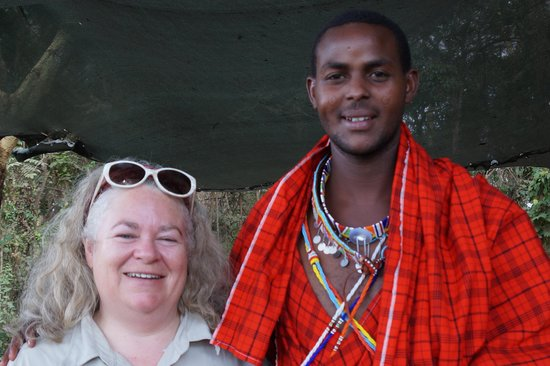 Amboseli Serena Safari Lodge: Kenneth, the Masai Naturalist and Cultural Officer and your truly
