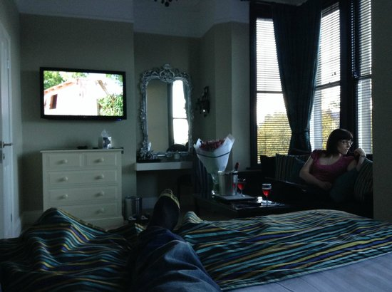 The Grafton: ..and the view from the bed (wife trying hard not to get in shot)
