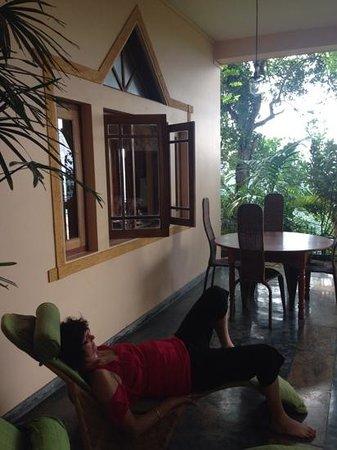 Villa Rosa: mum enjoying the view