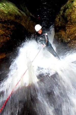 AfriCanyon River Adventures: kaari taking on the big one.