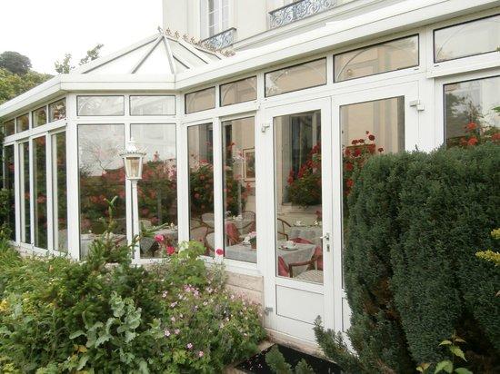 Hotel l'Ecrin : veranda