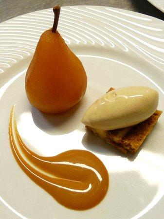 Dos de cerf potiron et ch taignes glac es jus au for Restaurant le beaucet