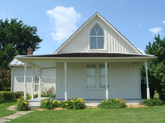 American Gothic House in Eldon, Iowa