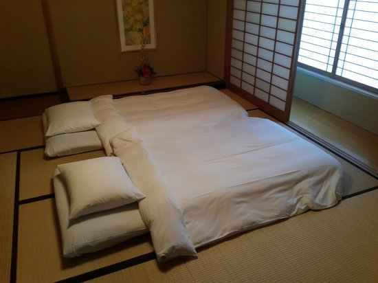 Hilton Nagoya Futon Bed In Japanese Suite