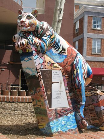 Historic Downtown and Railroad District: Art sculpture in downtown
