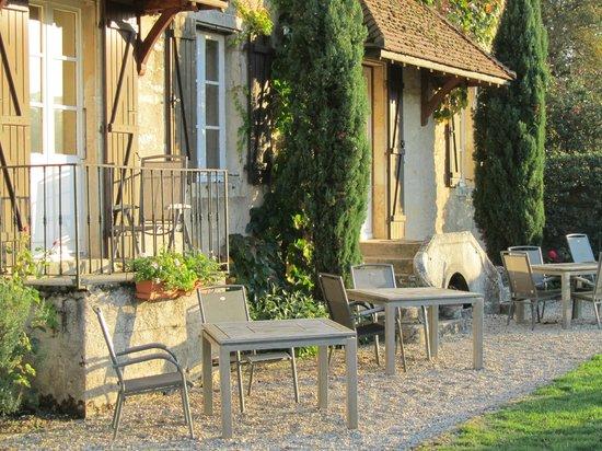 Hotel de Vougeot : Zimmer mit Gartenanstoss an den Weinberg