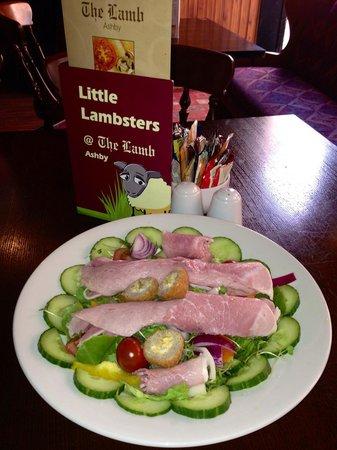 Ashby de la Zouch, UK: Ham Salad @ The Lamb