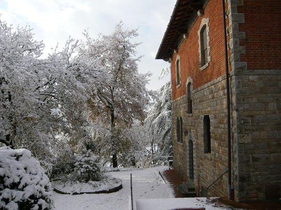 La Loggetta con la neve