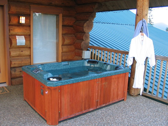 Log Spirit Bed and Breakfast : Midnight Dream Room private hot tub