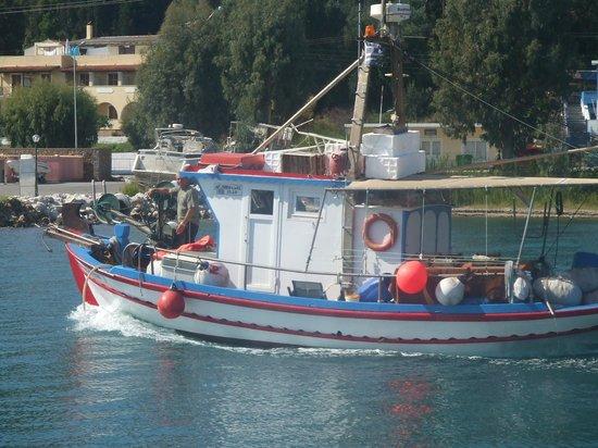 The Rose Garden Restaurant & Wine Bar: Spiros - Rose Garden's fishing boat
